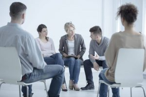 Friends and family in a counseling session.